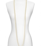 Carolee classic and powerful 10mm white simulated pearl rope necklace. Perfect to double or triple up. 72L strand.