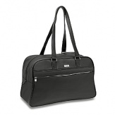The new black - a classic combination of black glazed cotton twill and black Napa leather, the Metropolitan collection is a sophisticated option for an urban look in luggage. Its construction is lightweight, the materials high performance and shiny nickel zipper is the perfect signature detail. The Mobile Traveler Spinners and new designs address today's traveler's needs for carry-on luggage.