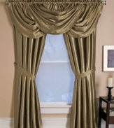 Your home is truly your castle with Versailles window treatments. With a brilliant sheen, lavish draping and decorative pleats, this exquisite window valance dresses your master suite or dining room in regal splendor.