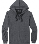 Cool casual style. With a nod toward henley styling, this hoodie from Retrofit sets the standard for your weekend.