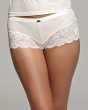 Ultra soft shorts with thick floral lace trim in a flattering silhouette.