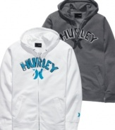 This casual-cool hoodie from Hurley gets your weekend wardrobe in gear.
