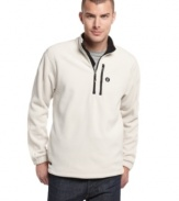 Add a preppy layer to your seasonal look with this quarter-zip jacket from Izod. (Clearance)