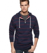 With a sporty quarter-zip style, this hoodie from Club Room gets your casual style on lock.
