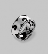 A thoroughly modern look crafted with a bold scroll design in fine sterling silver. From the Men's Dayak Collection Sterling silver About ½ wide Imported