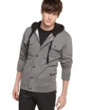 Maximize your hip urban style with this hoodie from Kenneth Cole.