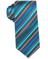 Up your office style with this handsome silk printed tie by Alfani.