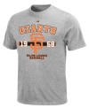 Get ready to rally! Cheer your San Francisco Giants to a win in this MLB t-shirt from Majestic.