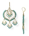 Be boldly bohemian in these pair of striking crystal-decked chandelier earrings from Aqua. Designed to dangle and dazzle, they hint at free-spirited chic.