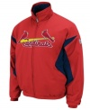 Extend the season. Display your team pride all year long in this St. Louis Cardinals jacket with Therma Base technology from Majestic.