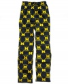 Support your favorite team even as you dream with these super-soft printed NCAA pajama pants from College Concepts.