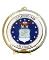 Former and current personnel of United States Air Force are very proud of the fact that the USAF is the most sophisticated air force in the world. And to honor their proud tradition, hang this golden ornament to salute their service to the nation.